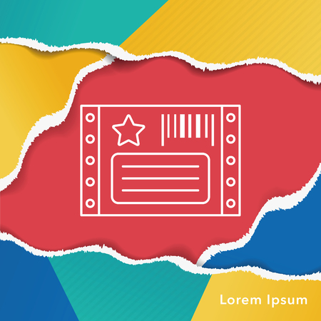 scanned: Barcode Label line icon Illustration