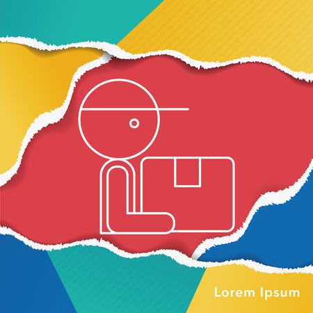 lien: Deliveryman line icon