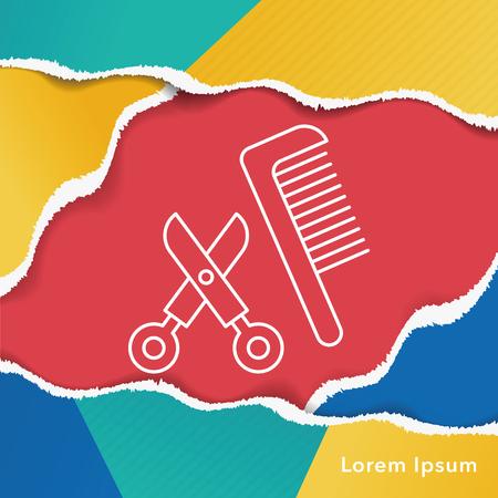 comb: comb line icon