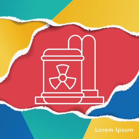 nuclear energy: Nuclear energy line icon