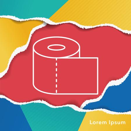 soft tissues: tissue line icon