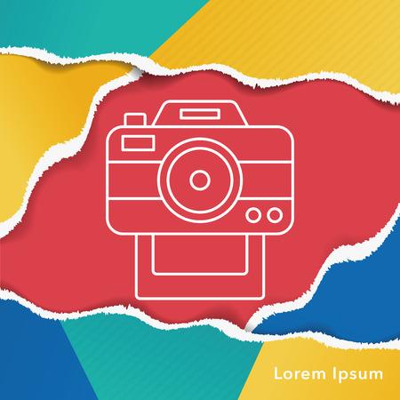 capturing: camera line icon