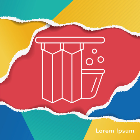 shower curtain: Shower Curtains line icon