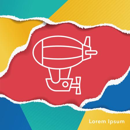 airship: airship line icon Illustration