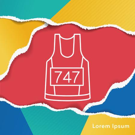 gym dress: Sportswear line icon Illustration