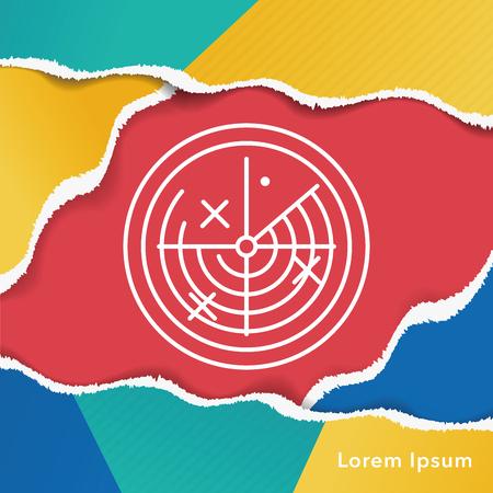 radar: Radar line icon