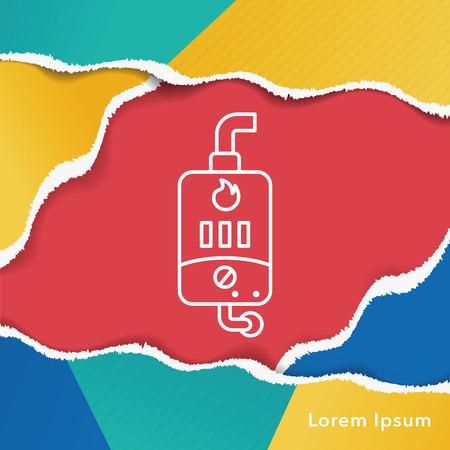 Water Heater line icon Illustration