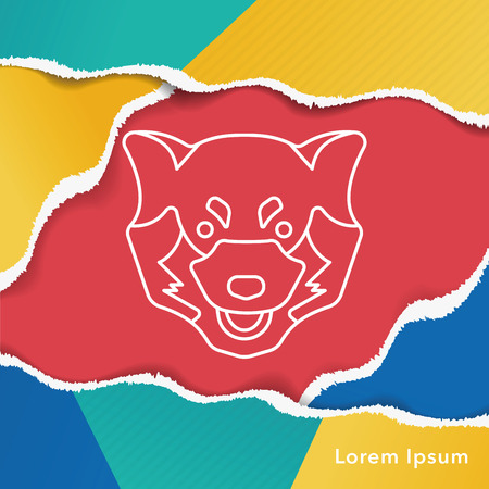animal: animal line icon