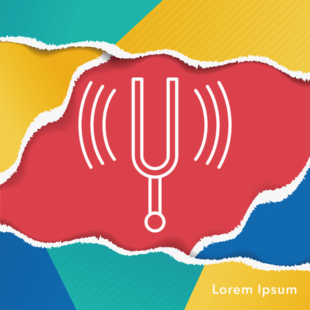 tuning fork: tuning fork line icon Illustration