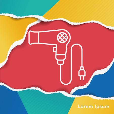 dryer: Hair dryer line icon