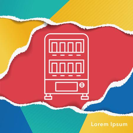 distribution automatique: vending ic�ne de la ligne de la machine