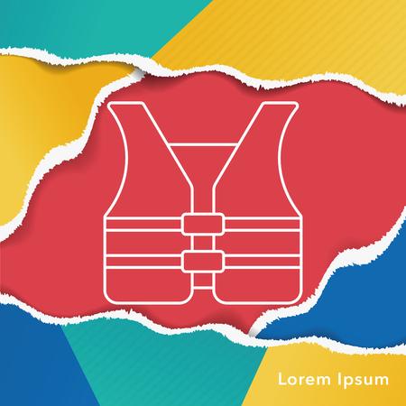 safety vest: safety vest line icon