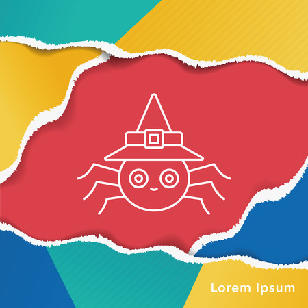 halloween spider: halloween spider line icon