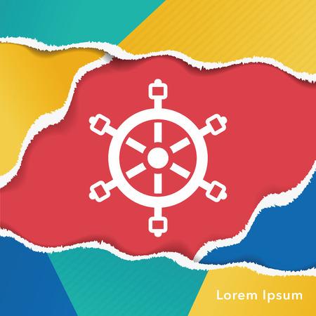 Rudder icon 向量圖像