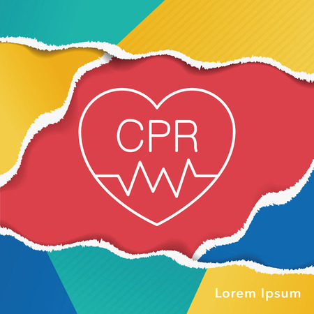 cpr: CPR line icon