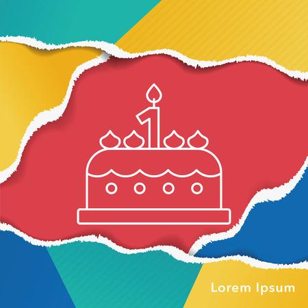buttercream: cake line icon