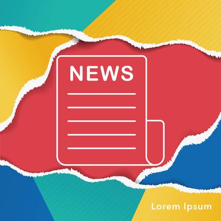 feature film: Media News line icon