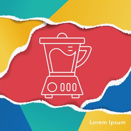 kitchenware juicer line icon Illustration