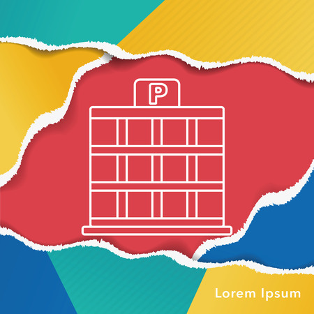 urban area: parking lot icon
