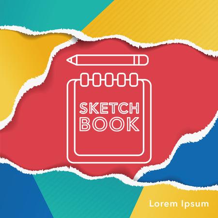 sketchbook: sketchbook line icon
