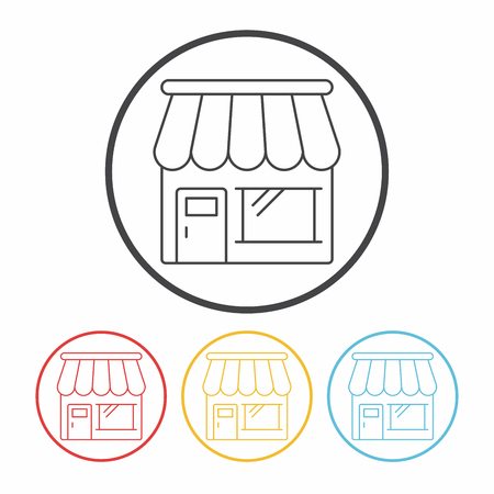 store: shop store line icon