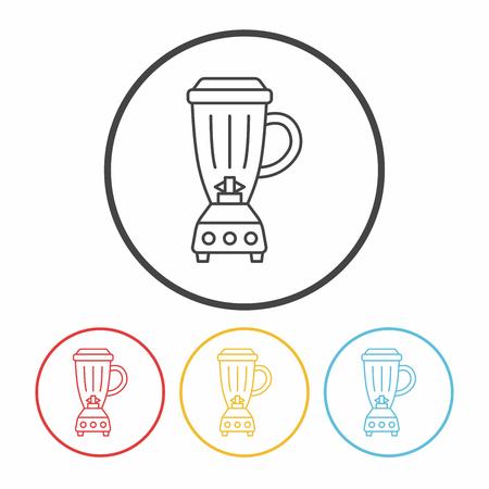 juicer: kitchenware juicer line icon Illustration