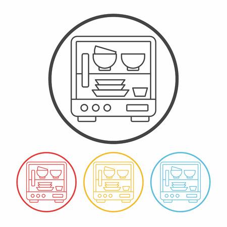 lavavajillas: icono de l�nea de lavavajillas