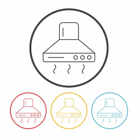 range hood: range hood line icon Illustration