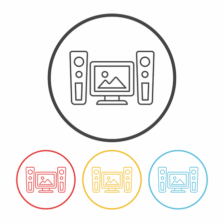 stereo: stereo line icon Illustration