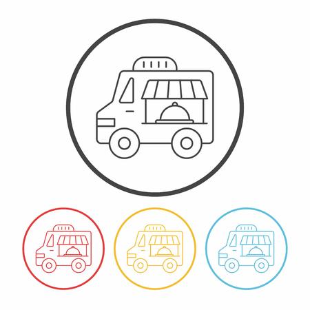 vendor: vendor carts line icon