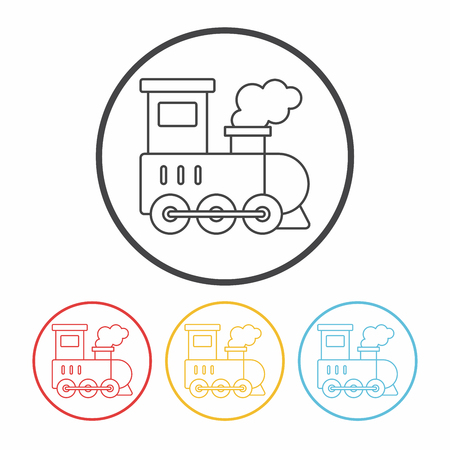 roadway: train line icon Illustration