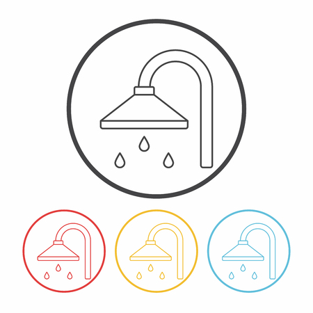 rinse: Shower heads line icon