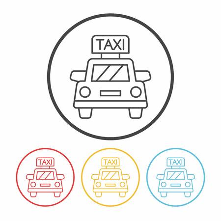 private service: taxi line icon