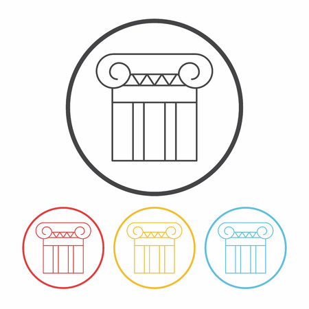 sculpture: Architectural sculpture line icon Illustration