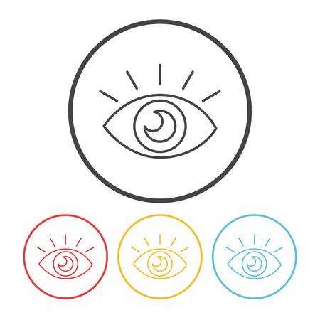 night: camera night mode line icon