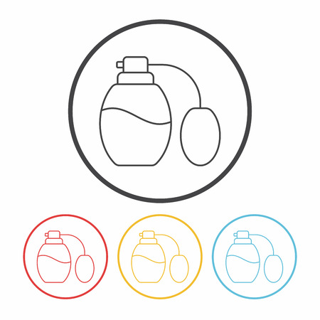 scent: perfume line icon Illustration