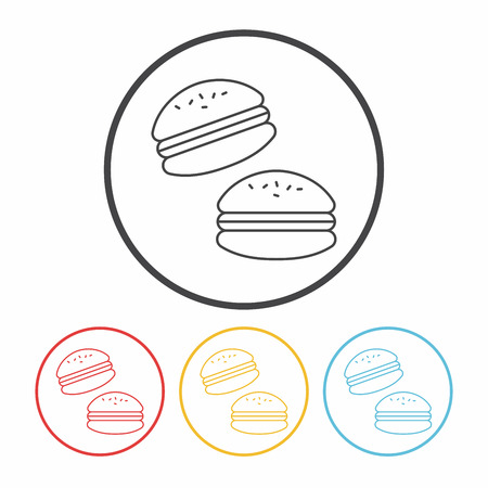 macaroon: macaroon icon Illustration