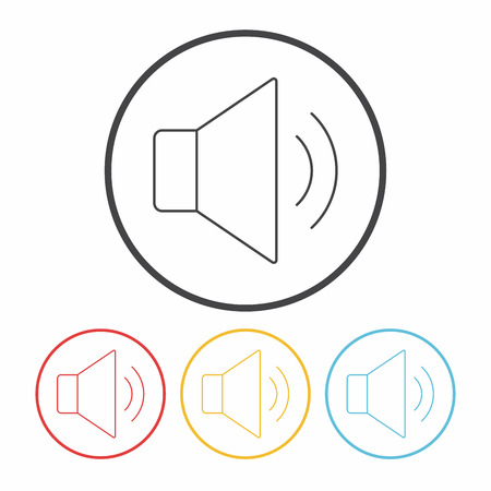 volume: volume line icon Illustration