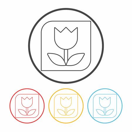 mode: Macro Lens mode line icon Illustration