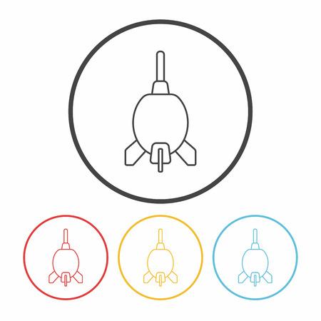 blaster: Rocket Air Blaster line icon Illustration