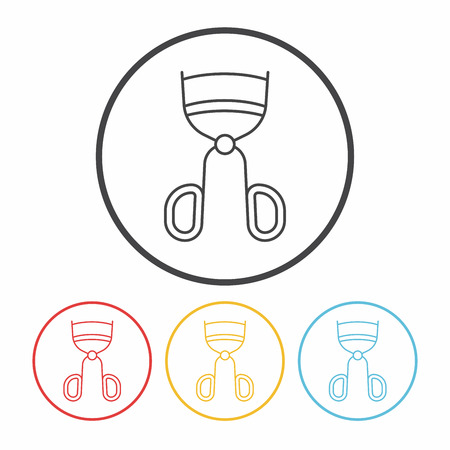 curler: Eyelash curler line icon