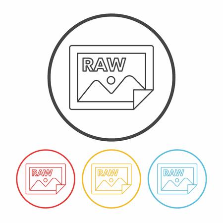 raw: camera raw line icon