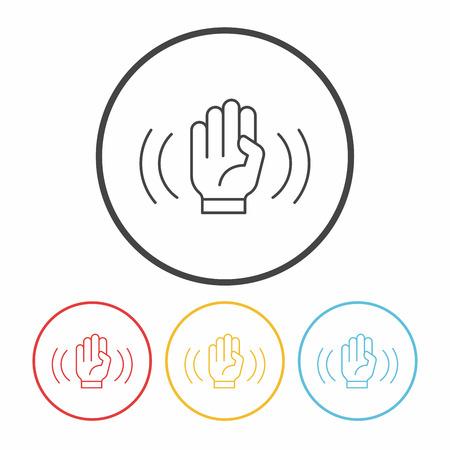 snapping: camera anti-shake mode line icon Illustration