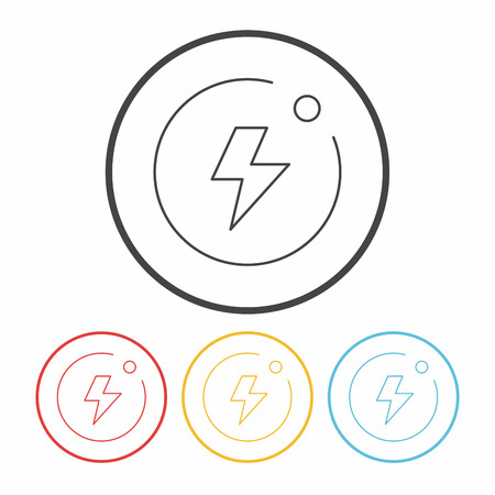 auto focus: camera flash mode line icon