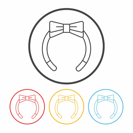 Headband line icon Illustration