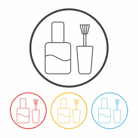 polish: Nail polish line icon