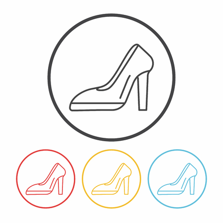 heel: high heel line icon