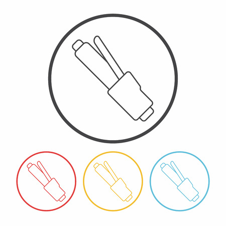 hair curlers: Hair curlers line icon