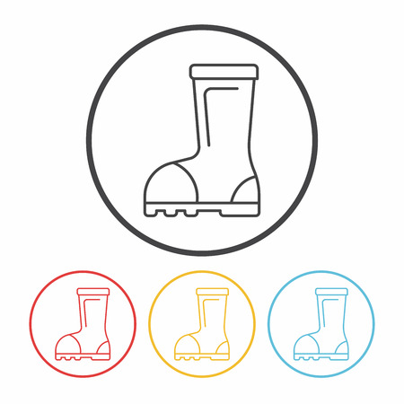 wellies: Rain boots line icon Illustration