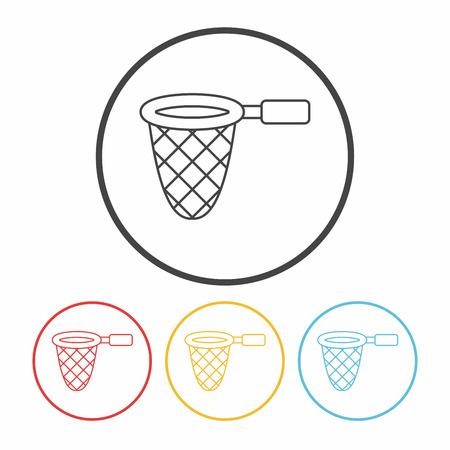 fishing net: fishing net line icon